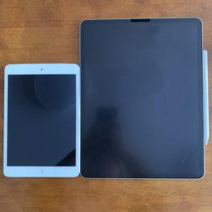 iPadminiとiPadPro大きさ比較