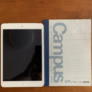 ipadmini A5サイズとの比較
